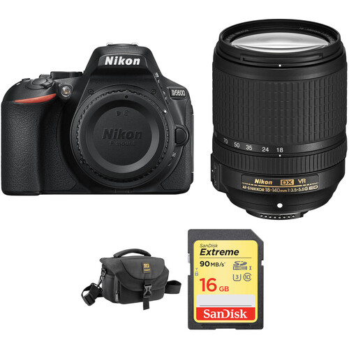 Nikon D5600 DSLR Camera with 18-140mm Lens and Accessory Kit
