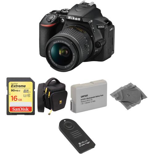 Nikon D5600 DSLR Camera with 18-55mm Lens Basic Kit