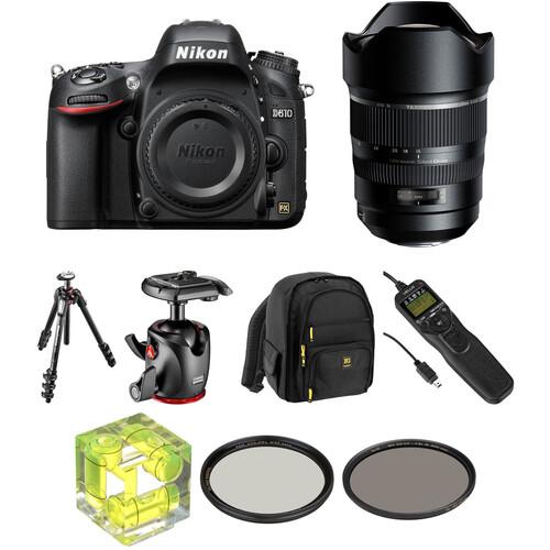 Nikon D610 DSLR Camera with 15-30mm f/2.8 Lens Landscape Kit