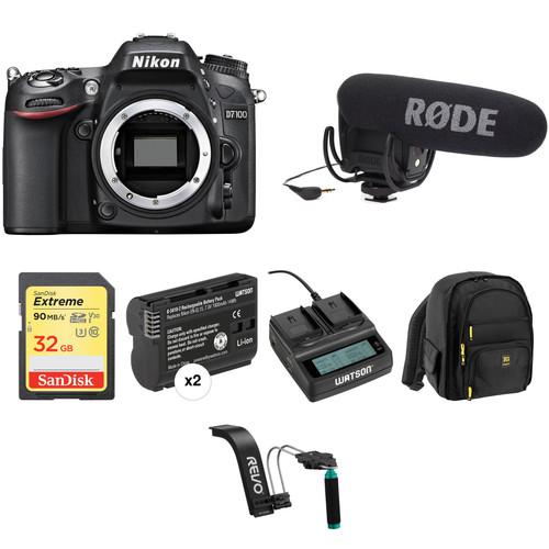 Nikon D7100 DSLR Camera (Body Only) Video Production Kit