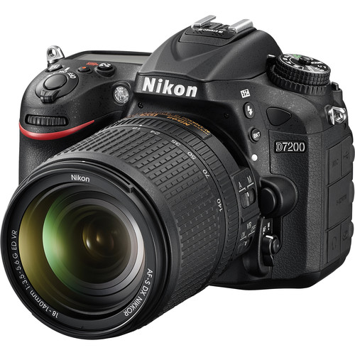 Nikon D7200 DSLR Camera with 18-140mm Lens Deluxe Kit