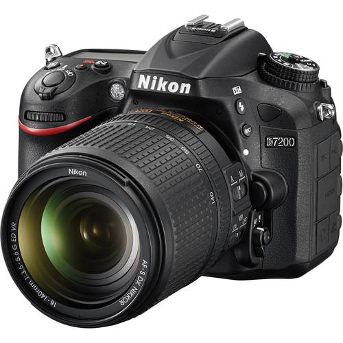 Nikon D7200 DSLR Camera with 18-140mm Lens Video Kit