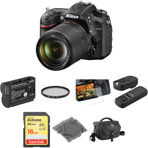 Nikon D7200 DSLR Camera with 18-140mm Lens Basic Kit