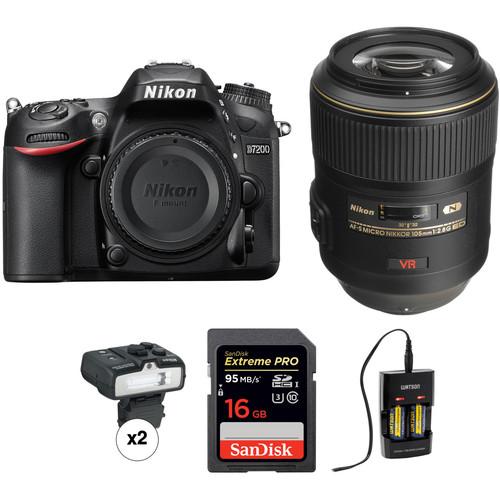 Nikon D7200 DSLR Camera with 105mm Macro Lens Dental Kit