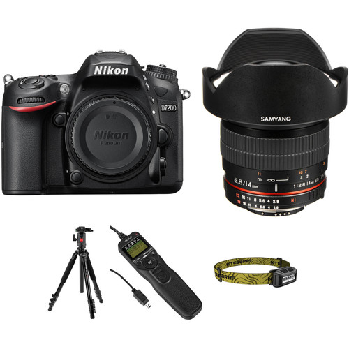 Nikon D7200 DSLR Camera with 14mm f/2.8 Lens Astrophotography Kit