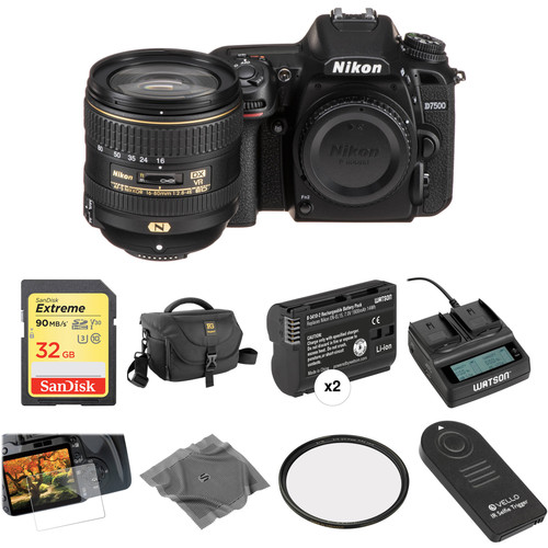 Nikon D7500 DSLR Camera with 16-80mm Lens Deluxe Kit