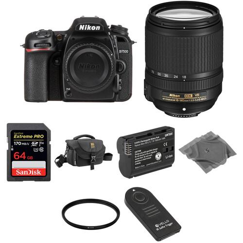 Nikon D7500 DSLR Camera with 18-140mm Lens Basic Kit