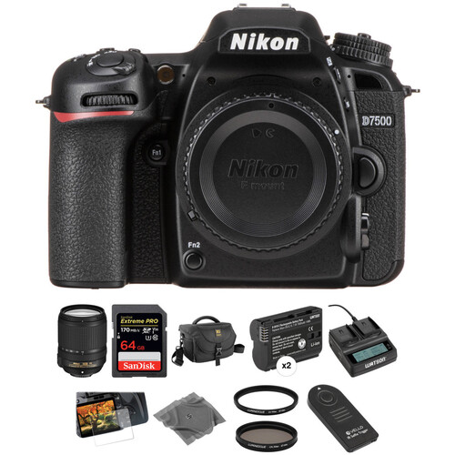 Nikon D7500 DSLR Camera with 18-140mm Lens Deluxe Kit