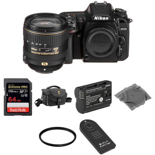 Nikon D7500 DSLR Camera with 16-80mm Lens Basic Kit