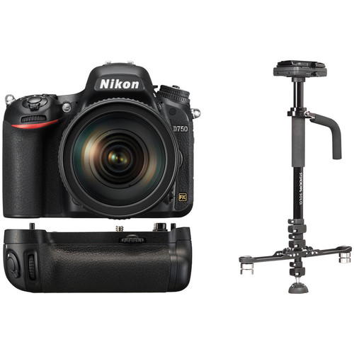 Nikon D750 DSLR Camera and 24-120mm Lens with Stabilizer Kit