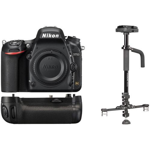 Nikon D750 DSLR Camera Body with Stabilizer Kit