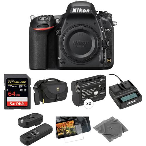 Nikon D750 DSLR Camera Body Deluxe Kit