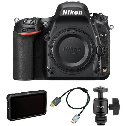 Nikon D750 DSLR Camera Body with Pro Monitoring Kit