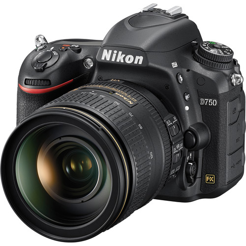 Nikon D750 DSLR Camera with 24-120mm Lens and Microphone Kit
