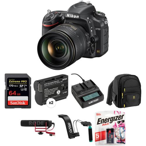 Nikon D750 DSLR Camera with 24-120mm Lens Video Kit