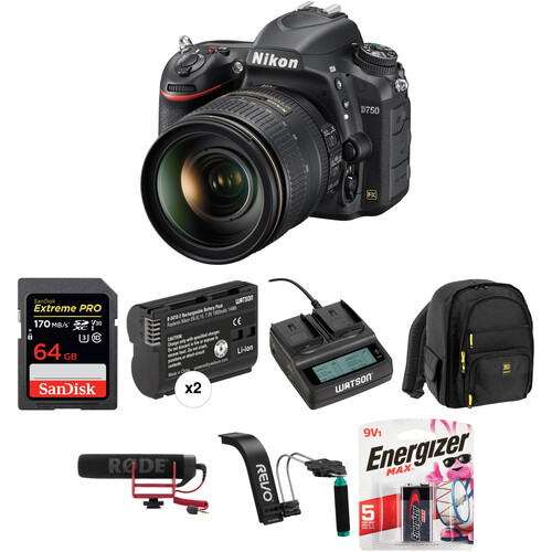 Nikon D750 DSLR Camera with 24-120mm Lens Video Kit