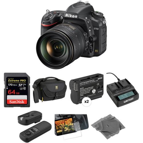 Nikon D750 DSLR Camera with 24-120mm Lens Deluxe Kit