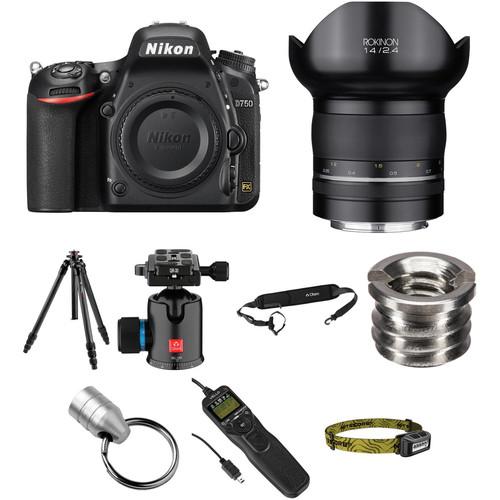 Nikon D750 DSLR Camera with 14mm f/2.4 Lens Astrophotography Kit