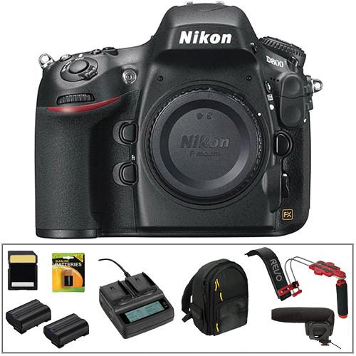Nikon D800 DSLR Camera Body Deluxe Video Kit