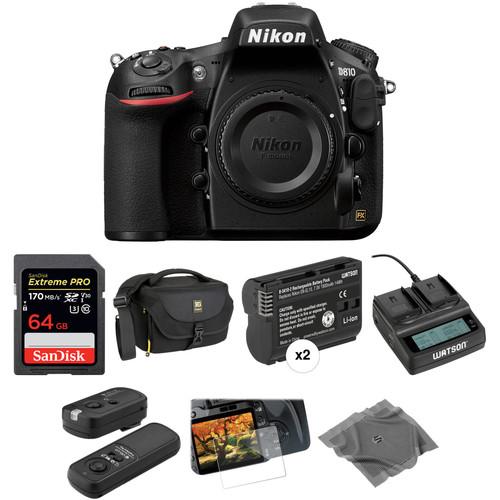 Nikon D810 DSLR Camera Body Deluxe Kit