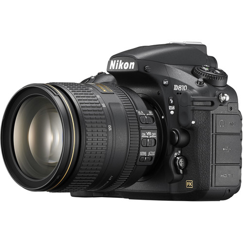 Nikon D810 DSLR Camera with 24-120mm Lens and 6-Track Field Recorder Kit
