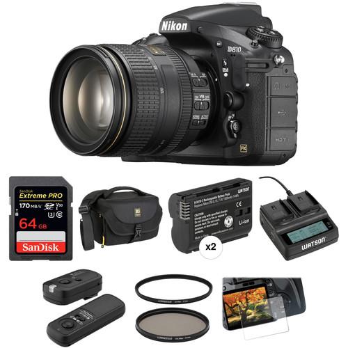 Nikon D810 DSLR Camera with 24-120mm Lens Deluxe Kit