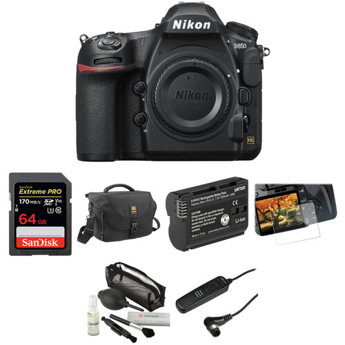 Nikon D850 DSLR Camera Basic Kit