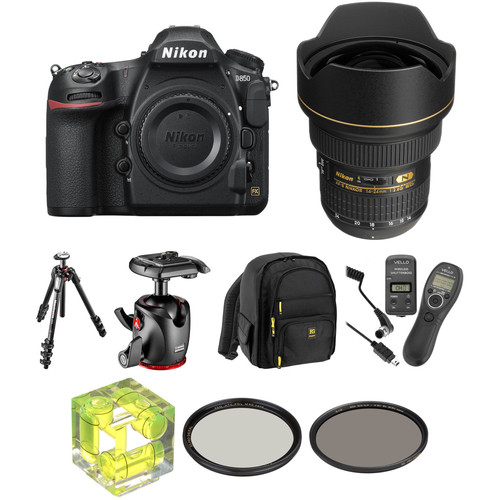 Nikon D850 DSLR Camera with 14-24mm f/2.8 Lens Landscape Kit
