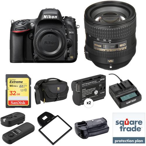 Nikon D610 DSLR Camera with 24-85mm Lens Deluxe Kit
