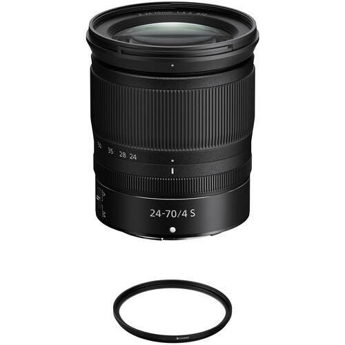 Nikon NIKKOR Z 24-70mm f/4 S Lens with UV Filter Kit