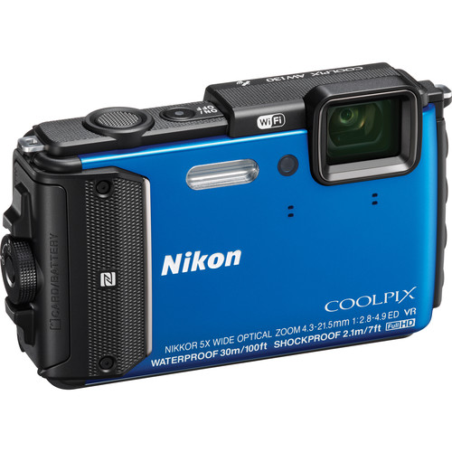 Nikon NikonCOOLPIX AW130 Waterproof Digital Camera Deluxe Kit (Blue)