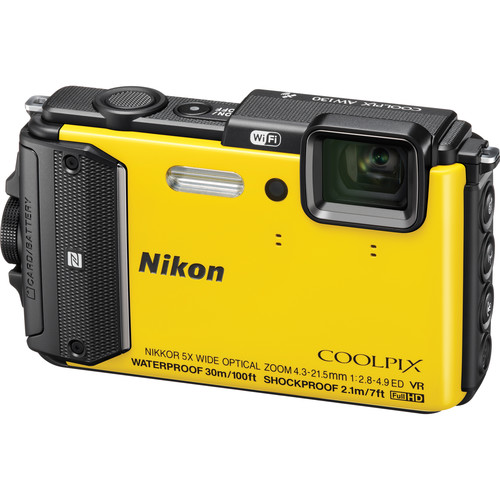 Nikon NikonCOOLPIX AW130 Waterproof Digital Camera Basic Kit (Yellow)