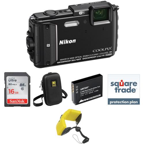 Nikon Nikon COOLPIX AW130 Waterproof Digital Camera Deluxe Kit (Black)