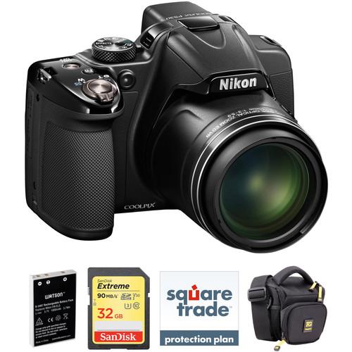 Nikon COOLPIX P530 Digital Camera (Black, Refurbished) Deluxe Kit