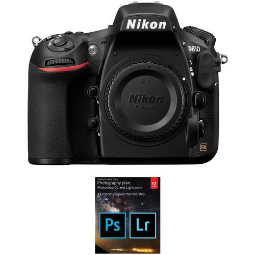 Nikon D810 DSLR Camera Body with Adobe Creative Cloud 12-Month Subscription Kit