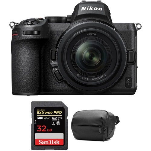 Nikon Z 5 Mirrorless Digital Camera with 24-50mm Lens and Accessories Kit