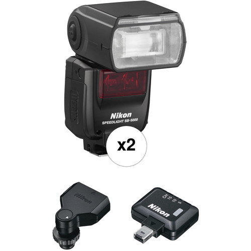 Nikon SB-5000 AF Speedlight Two Flash Wireless Kit