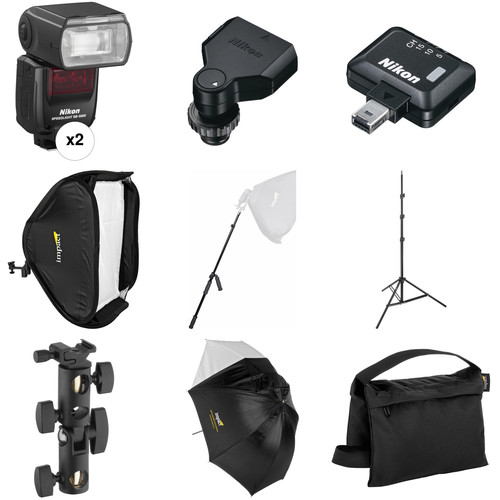 Nikon SB-5000 AF Speedlight Two Flash Wireless Portrait & Fashion Kit