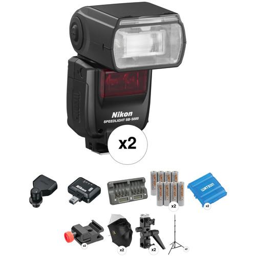 Nikon SB-5000 AF Speedlight Two Flash Wireless Portrait Kit
