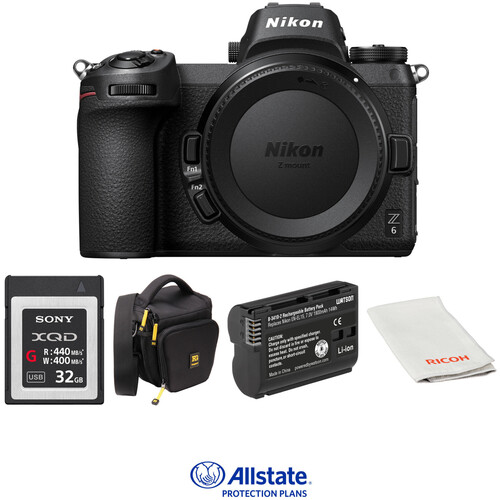 Nikon Z 6 Mirrorless Digital Camera Body Deluxe Kit