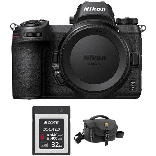 Nikon Z 7 Mirrorless Digital Camera with FTZ Mount Adapter and Bag Kit