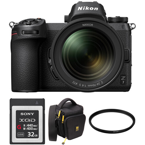 Nikon Z 7 Mirrorless Digital Camera with 24-70mm Lens and Accessories Kit
