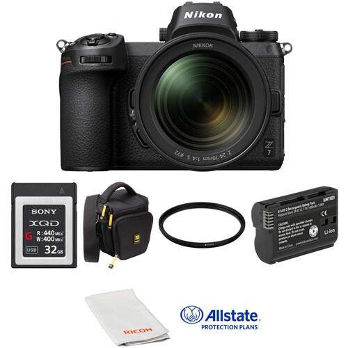Nikon Z 7 Mirrorless Digital Camera with 24-70mm Lens Deluxe Kit