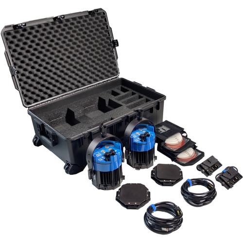 Nila Double Varsa V2 Bi-Color LED Kit with Gold Mount Battery Plates