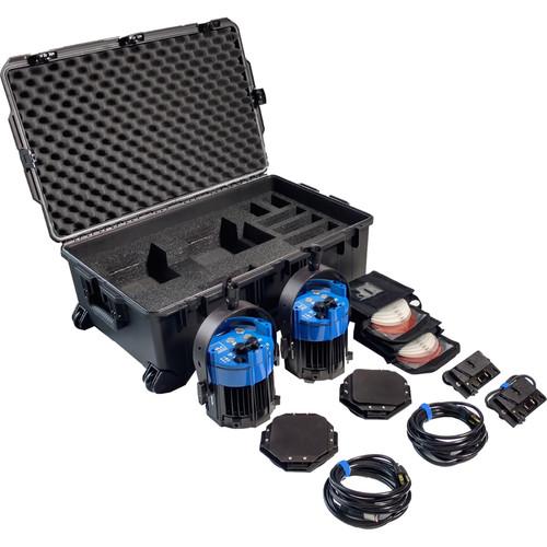 Nila Double Varsa V2 Daylight Kit with Gold Mount Battery Plates