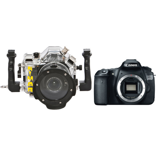 Nimar 3D Transparent Underwater Housing with Canon EOS 60D DSLR Camera Body Kit
