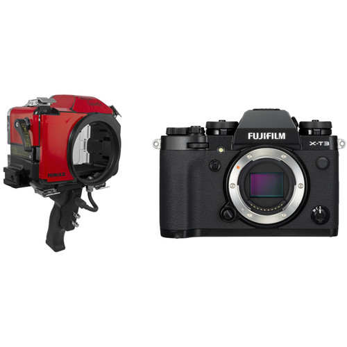 Nimar Base Water Sports Housing with Pistol Grip and FUJIFILM X-T3 Camera Body Kit