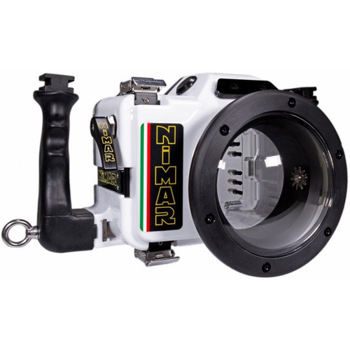 Nimar Underwater Housing for Canon EOS Rebel XSi or T1i with M14 Bulkhead Port (White)
