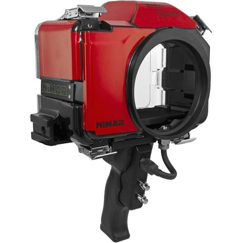 Nimar Base Water Sports Housing with Pistol Grip for Canon EOS 5D Mark III, 5DS, or 5DS R (Red/Clear)