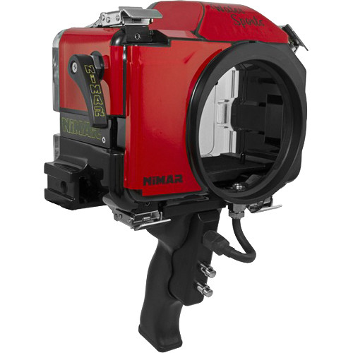 Nimar Water Sports Housing with Pistol Grip for Canon EOS 7D Mark II (Red/Clear)